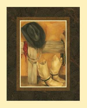 Jennifer Goldberger Hat And Boots (hi) Canvas