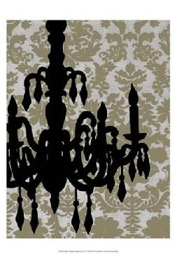 Ethan Harper Small Chandelier Silhouette II (p) Canvas