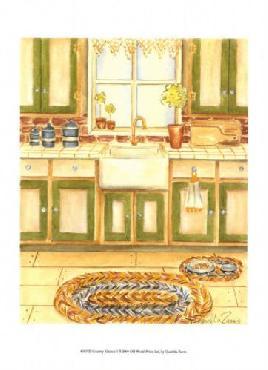 Chariklia Zarris Country Kitchen I Canvas