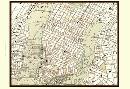 Vision Studio Sepia Map Of New York