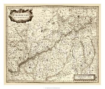 Vision Studio Antiquarian Map II Giclee