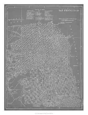 Vision Studio City Map Of San Francisco Giclee Canvas