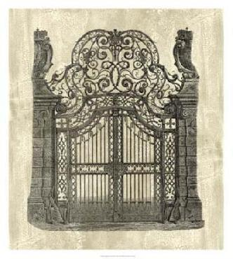 Vision Studio Wrought Iron Gate Canvas