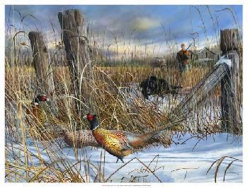 Kevin Daniel Corner Post Giclee on Canvas
