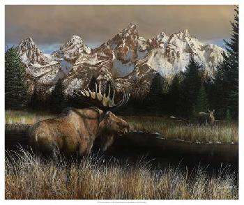 Kevin Daniel Teton Majesty Giclee on Canvas
