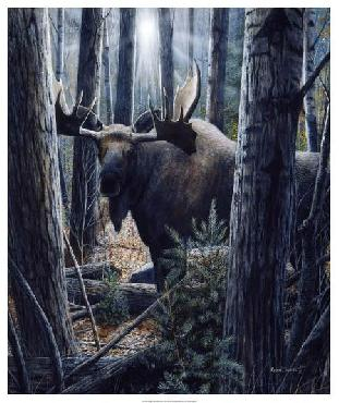 Kevin Daniel King Of The Northwoods Giclee on Canvas