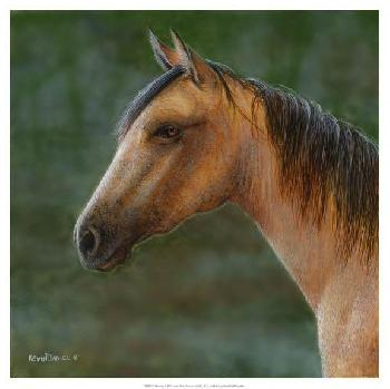Kevin Daniel Mustang Giclee on Canvas