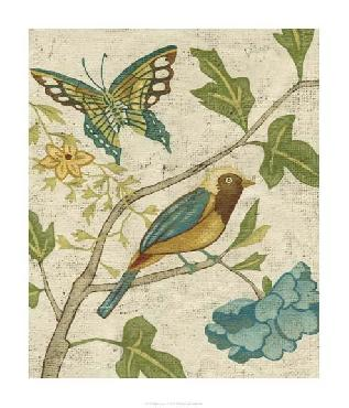 Chariklia Zarris Antique Aviary III Giclee Canvas