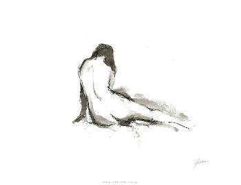 Ethan Harper Ink Figure Study II Giclee Canvas