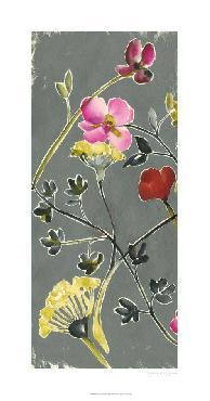 Jennifer Goldberger Bouquet On Grey III Giclee Canvas