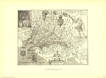 John Smith Map of Virginia