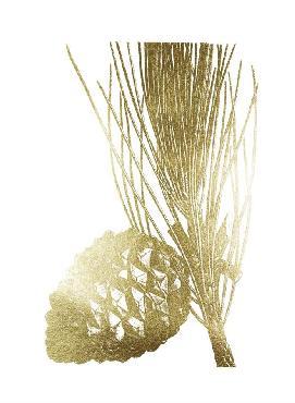 Vision Studio Gold Foil Pine Cones I Metallic Foil