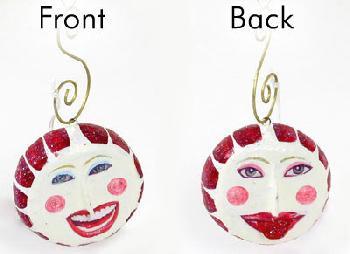 Dept 56 Whimsical Peppermint Face Ornament