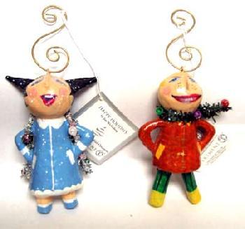 Dept 56 Naughty Boy & Girl Ornament Set