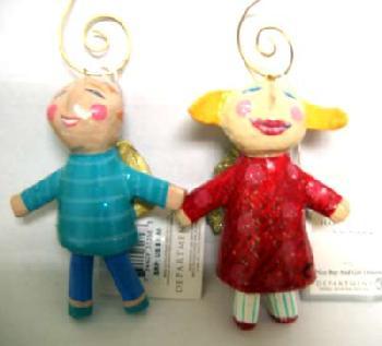 Dept 56 Nice Boy & Girl Ornament Set