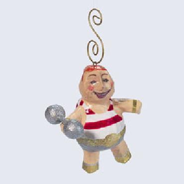 Dept 56 Strong Man Weight Lifter Ornament