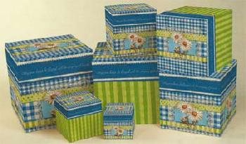 Kimberly Poloson Giant Asters 7 Stack Boxes