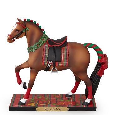 Karlynn Keyes English Holiday Trails of the Painted Ponies - Figurine