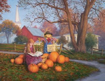 Robert Duncan Pumpkins for Sale Giclee on Canvas