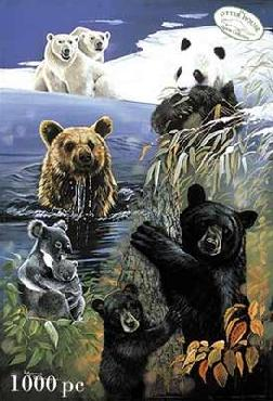 Pollyanna Pickering Bears of the World 500 Piece Puzzle