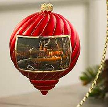 Terry Redlin Family Traditions Ornament - Red
