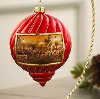 Terry Redlin Night on the Town Ornament - Red