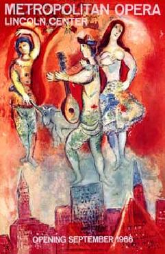 Marc Chagall Metropolitan Opera Opening September 1966 Giclee on acid free paper