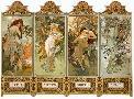 Alphonse Mucha Nouveau Four Seasons