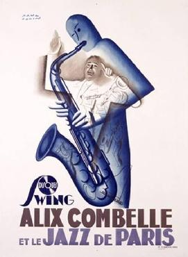 Paul Colin Alix Combelle Jazz Band Record Giclee on acid free paper