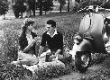 Anonymous Vespa Piaggio Romance on the Grass Poster