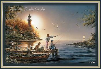Terry Redlin From Sea to Shining Sea Deluxe Christmas Cards