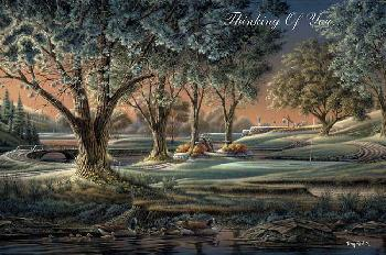 Terry Redlin Spring on the Greens Petite Note Cards