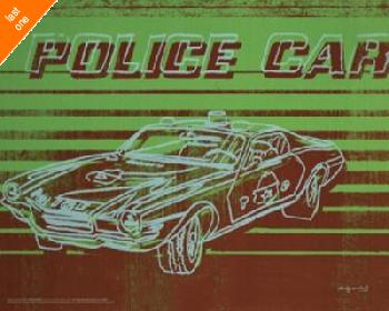 Andy Warhol Police Car NO LONGER IN PRINT - LAST ONES!!