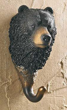Wild Wings Black Bear Wall Hook
