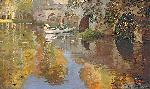 Sir John Lavery The Bridge At Grez, 1900
