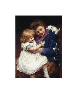Arthur J. Elsley Playtime With Kittens Gouttelette