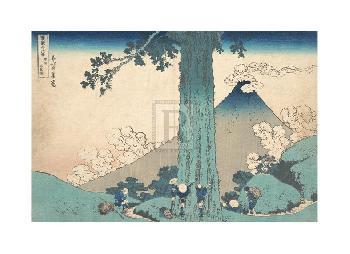 Katsushika Hokusai Mishima Pass In Kai Province Gouttelette