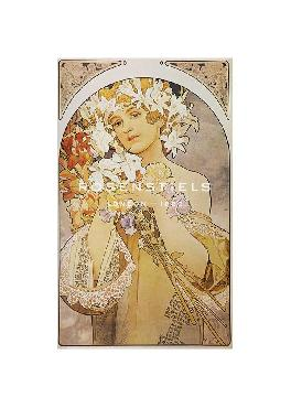 Alphonse Mucha Flower: Final Study For Decorative Panel, 1897 Gouttelette
