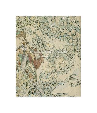 Alphonse Mucha Textile Design Gouttelette