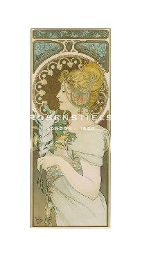 Alphonse Mucha La Plume, 1899 Gouttelette