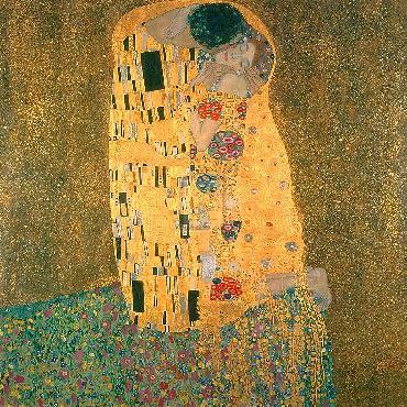 Gustav Klimt Kiss Gouttelette