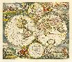 Frederick De Wit Nova Totius Terrarum Orbis Tabula, 1668