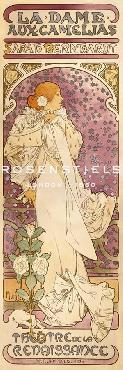 Alphonse Mucha La Dame Aux Camelias, 1896 Giclee Canvas