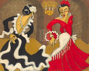 Marsha Hammel Cevilla Diptych A Giclee Canvas