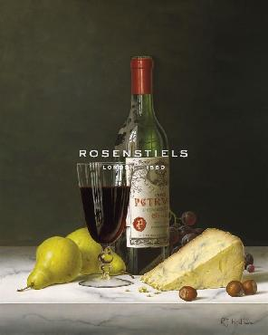 Roy Hodrien Chateau Petrus With Pears And Cheese Giclee Canvas