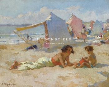Charles Atamian Playing On The Beach Giclee