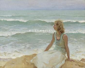 Charles Atamian On The Beach Giclee Canvas