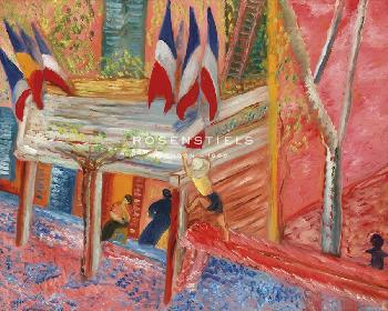 Sigrid Hjerten At The Square In Cassis, 14 July Giclee Canvas