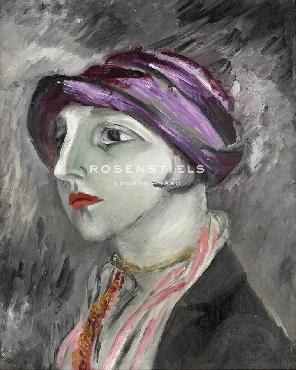 Sigrid Hjerten The VIolet Hat Giclee Canvas