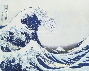 Katsushika Hokusai Great Wave Of Kanagawa  -  Flow Giclee